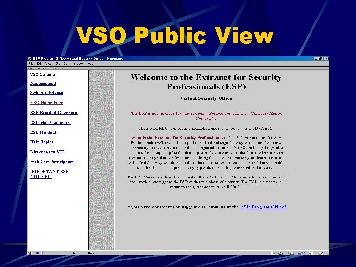 VSO Public View