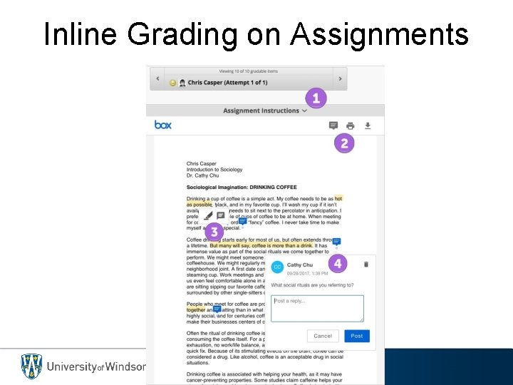 Inline Grading on Assignments