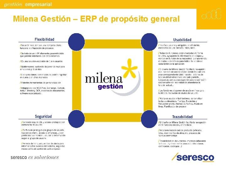 Milena Gestión – ERP de propósito general