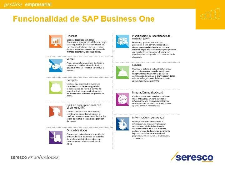 Funcionalidad de SAP Business One