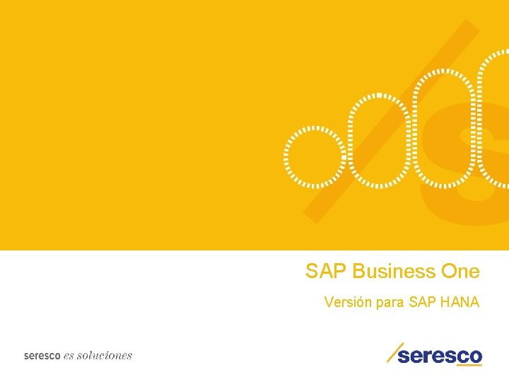 SAP Business One Versión para SAP HANA
