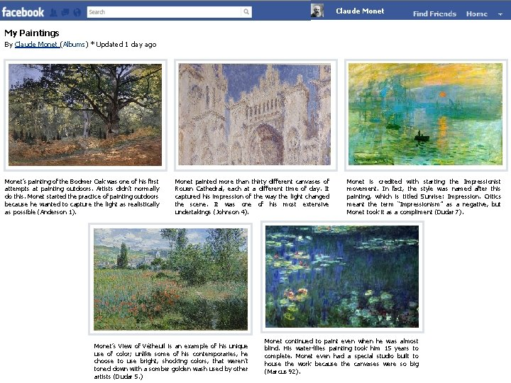 Claude Monet My Paintings By Claude Monet (Albums) * Updated 1 day ago Monet's
