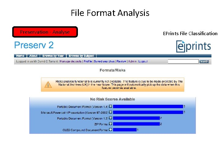 File Format Analysis Preservation - Analyse EPrints File Classification