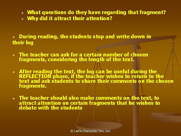 Ø Ø What questions do they have regarding that fragment? Why did it attract