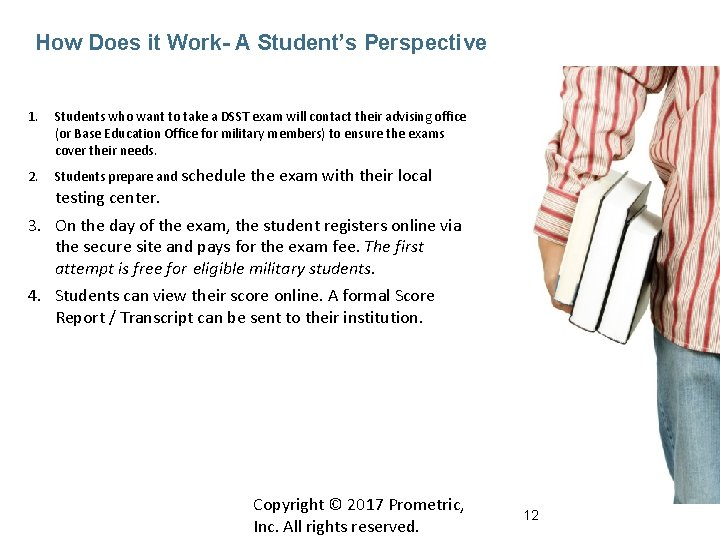 How Does it Work- A Student's Perspective 1. Students who want to take a