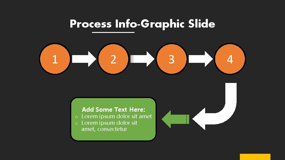Process Info-Graphic Slide 1 2 Add Some Text Here: o Lorem ipsum dolor sit