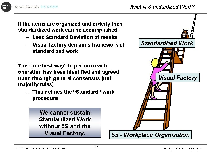 What is Standardized Work? If the items are organized and orderly then standardized work