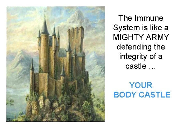 The Immune System is like a MIGHTY ARMY defending the integrity of a castle