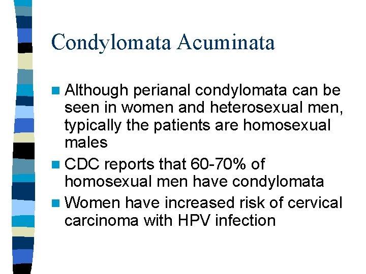 Condyloma acuminatum cdc