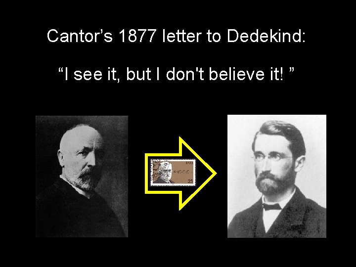 """Cantor's 1877 letter to Dedekind: """"I see it, but I don't believe it! """""""