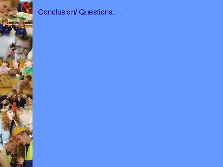Conclusion/ Questions….