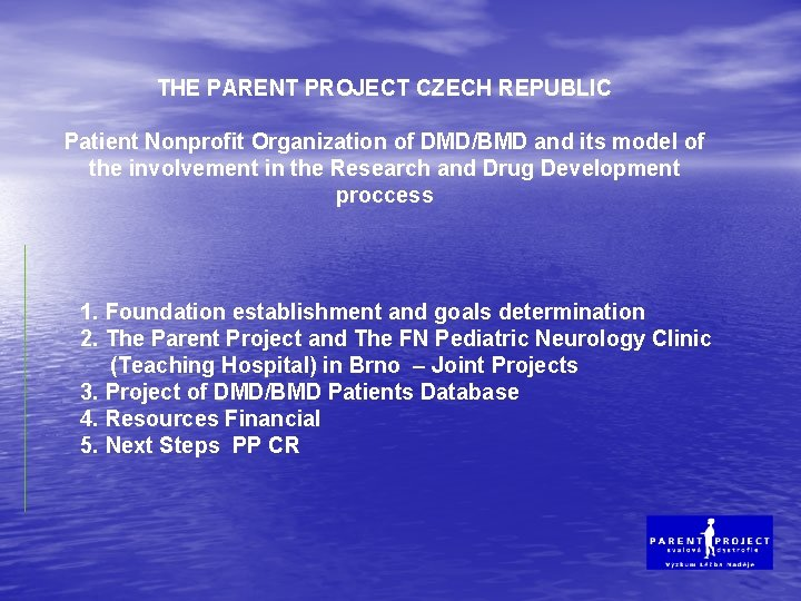 THE PARENT PROJECT CZECH REPUBLIC Patient Nonprofit Organization of DMD/BMD and its model of