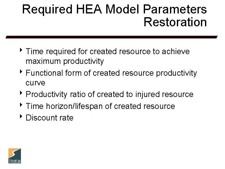 Required HEA Model Parameters Restoration 8 Time required for created resource to achieve maximum