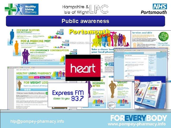Public awareness hlp@pompey-pharmacy. info www. pompey-pharmacy. info