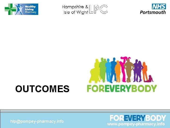 OUTCOMES hlp@pompey-pharmacy. info www. pompey-pharmacy. info