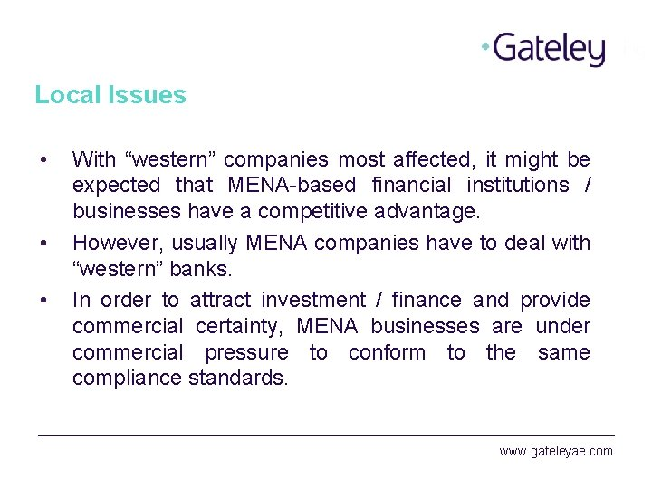 """Local Issues • • • With """"western"""" companies most affected, it might be expected"""