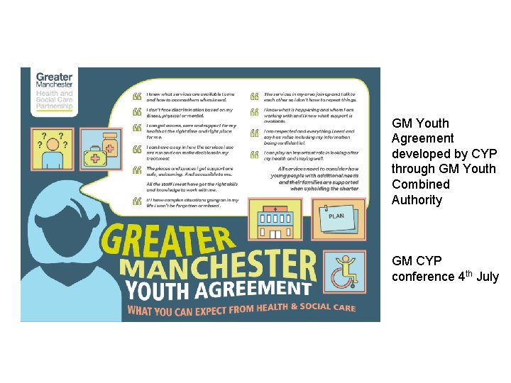 GM Youth Agreement developed by CYP through GM Youth Combined Authority GM CYP conference