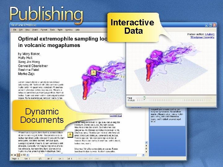 Interactive Data Dynamic Documents