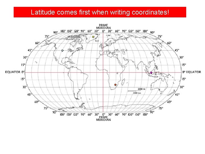 Latitude comes first when writing coordinates!