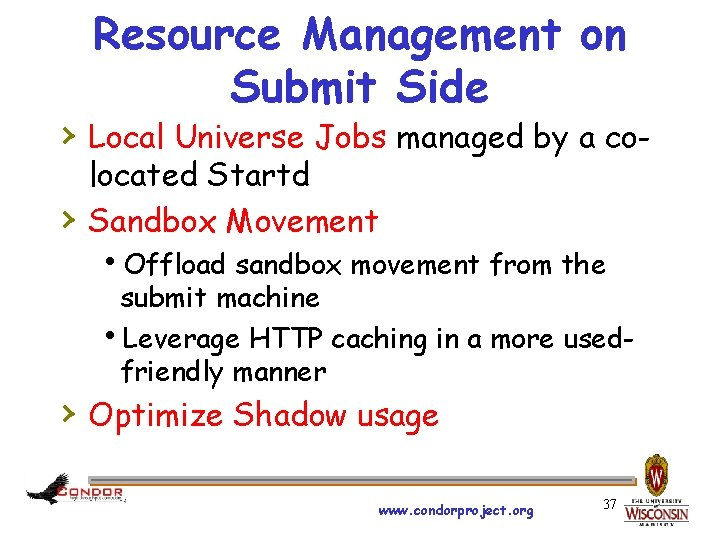 Resource Management on Submit Side › Local Universe Jobs managed by a co› located