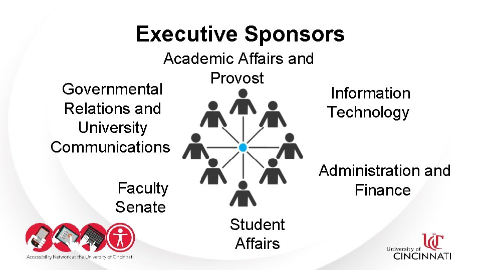 Executive Sponsors Academic Affairs and Provost Governmental Information Relations and Technology University Communications Administration