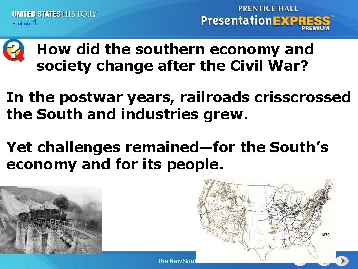 Chapter Section 1 25 Section 1 How did the southern economy and society change