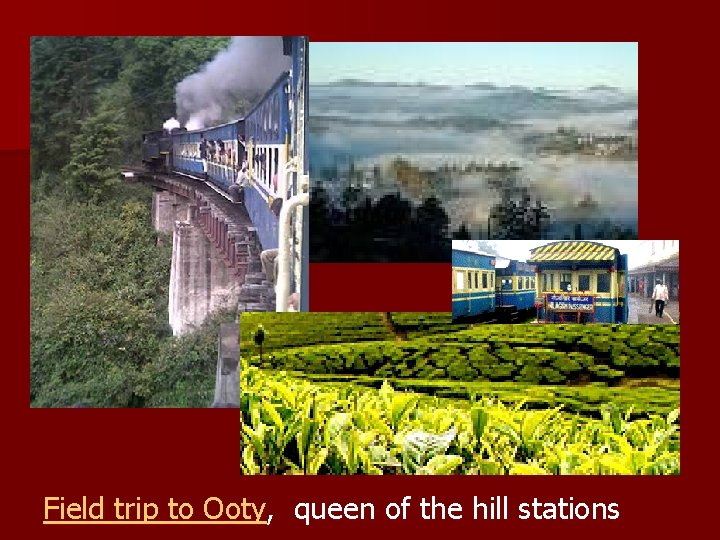 Field trip to Ooty, queen of the hill stations