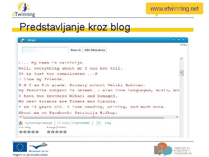 Predstavljanje kroz blog