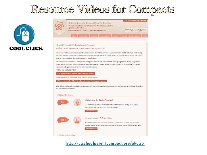 Resource Videos for Compacts http: //ctschoolparentcompact. org/about/