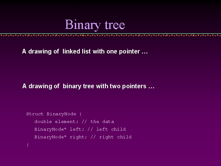 Binary tree A drawing of linked list with one pointer … A drawing of