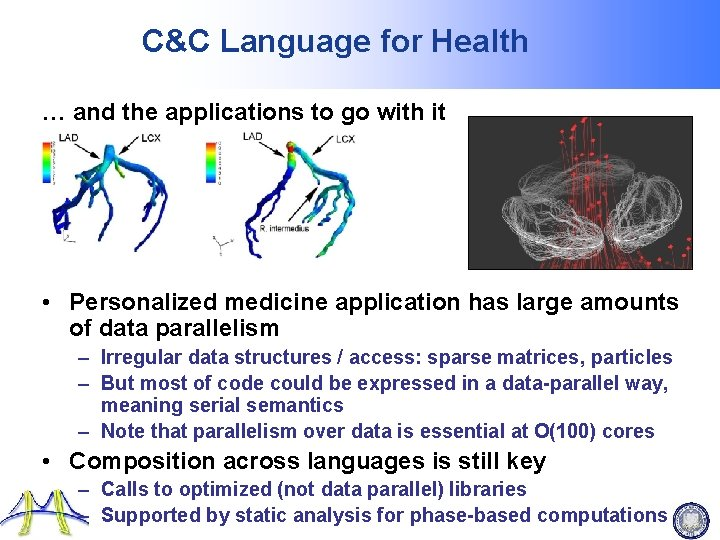 C&C Language for Health … and the applications to go with it • Personalized