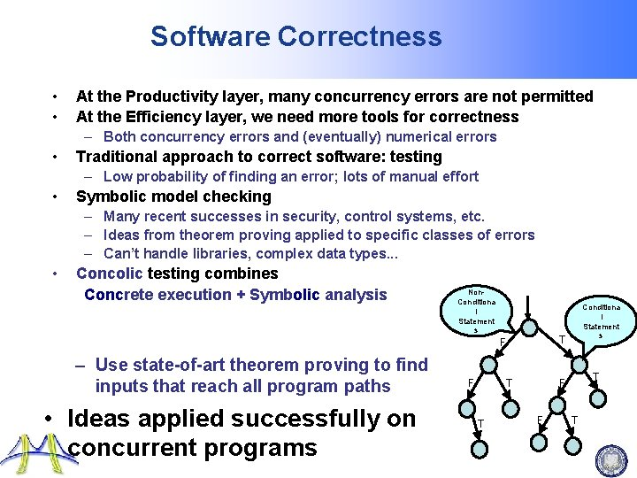 Software Correctness • • At the Productivity layer, many concurrency errors are not permitted