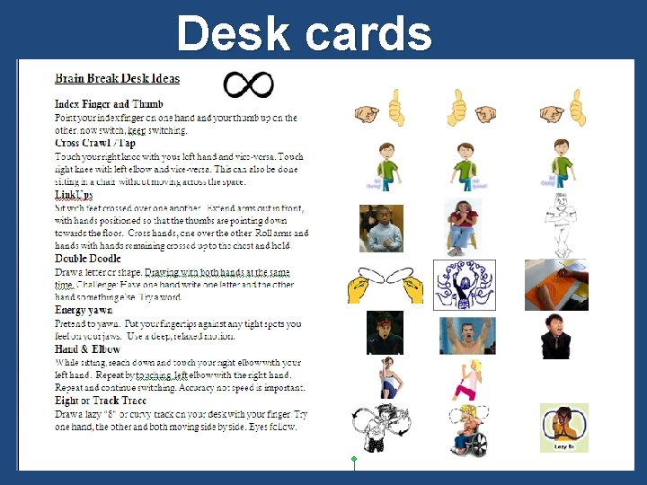 Desk cards