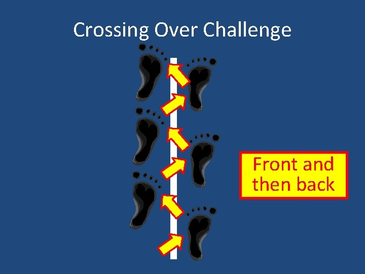 Crossing Over Challenge Front and then back