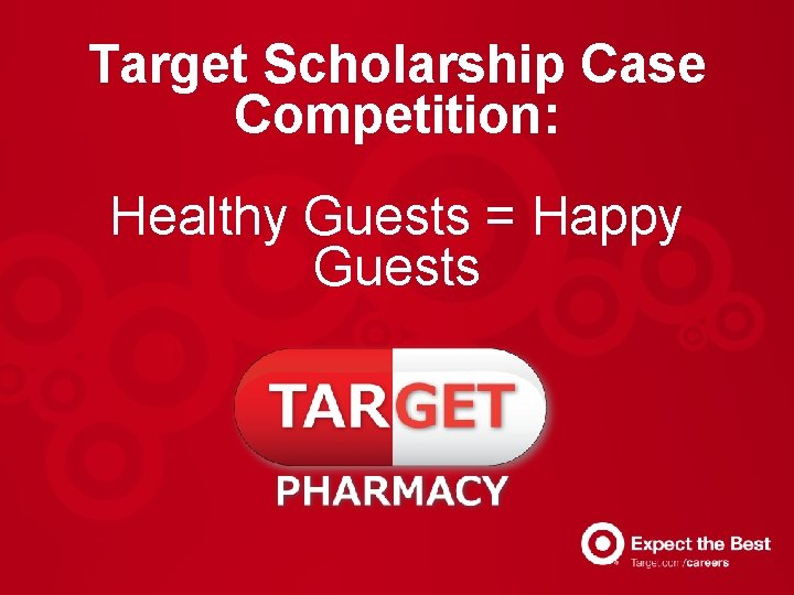 Target Scholarship Case Competition: Healthy Guests = Happy Guests
