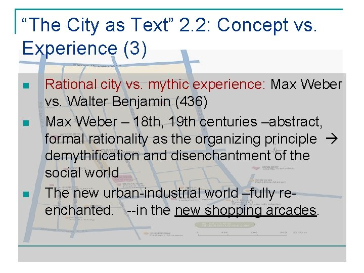 """""""The City as Text"""" 2. 2: Concept vs. Experience (3) n n n Rational"""