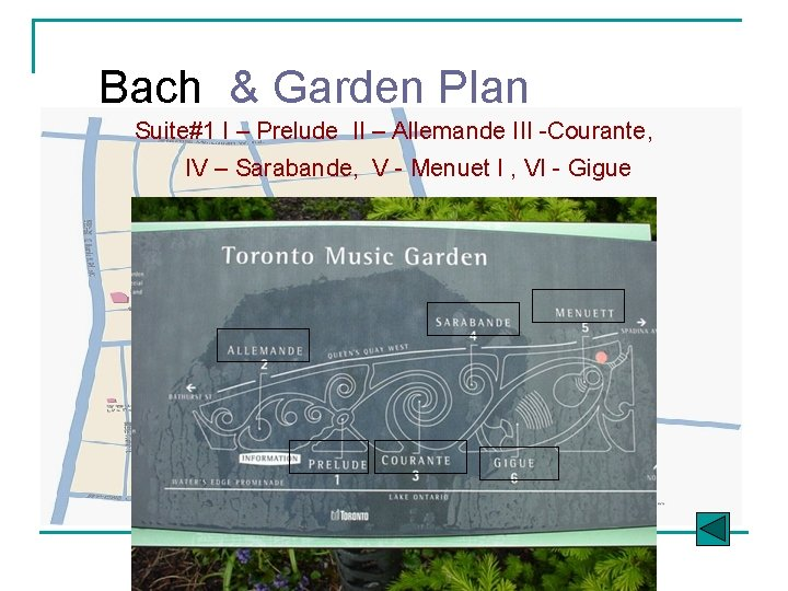 Bach & Garden Plan Suite#1 I – Prelude II – Allemande III -Courante, IV