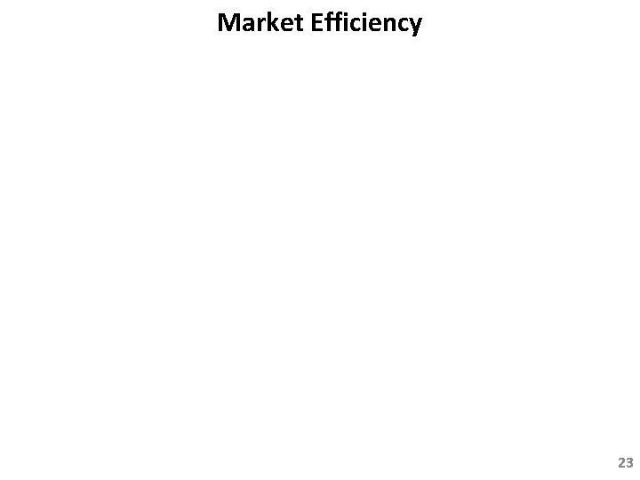 Market Efficiency 23
