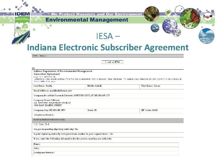 IESA – Indiana Electronic Subscriber Agreement