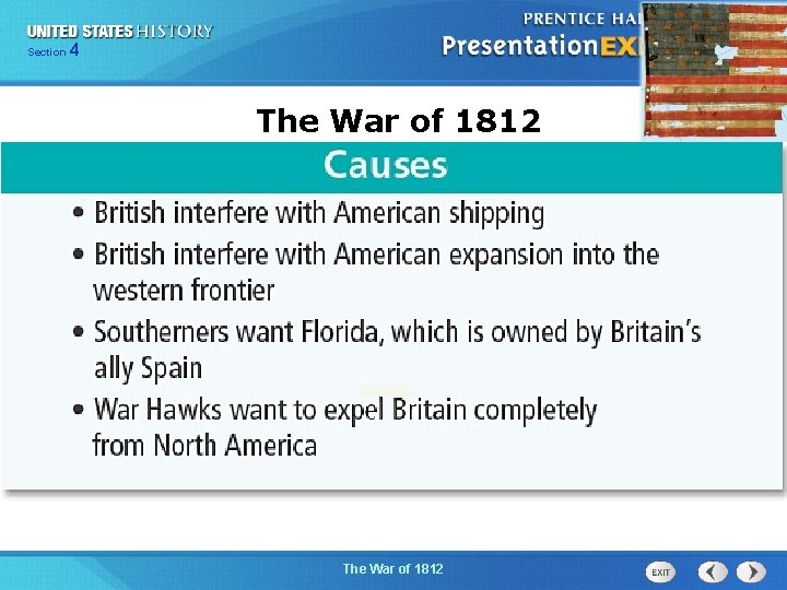 425 Section Chapter Section 1 The War of 1812 The Cold War Begins