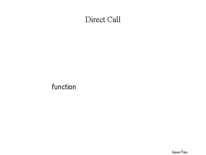 Direct Call function James Tam