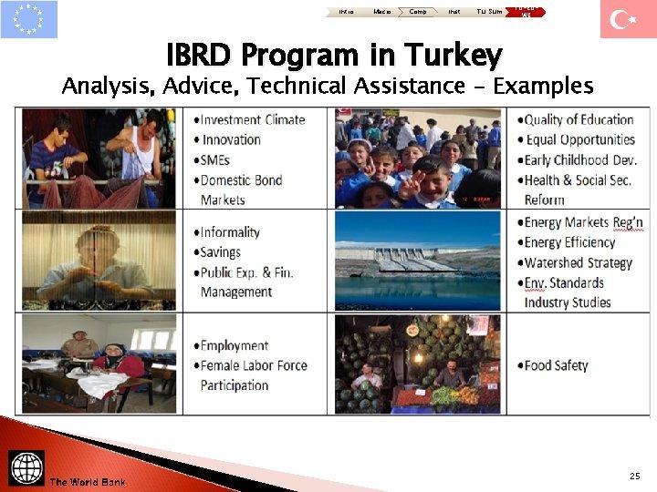 Intro Macro Comp Inst Tu: Sum TU-EUWB IBRD Program in Turkey Analysis, Advice, Technical