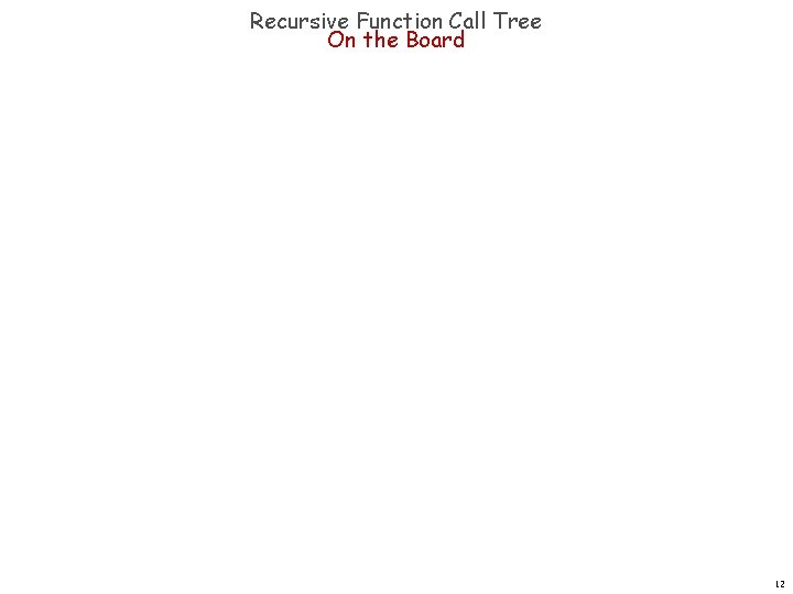 Recursive Function Call Tree On the Board 12