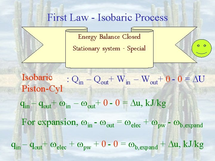 First Law - Isobaric Process Energy Balance Closed Stationary system - Special Isobaric :