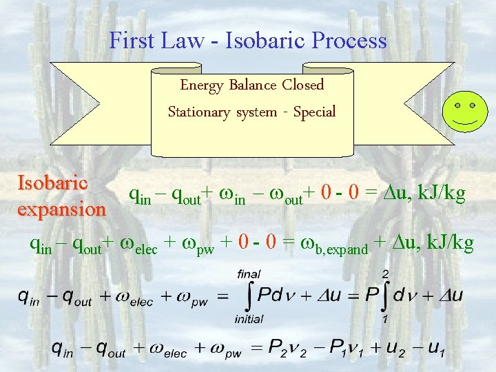 First Law - Isobaric Process Energy Balance Closed Stationary system - Special Isobaric qin