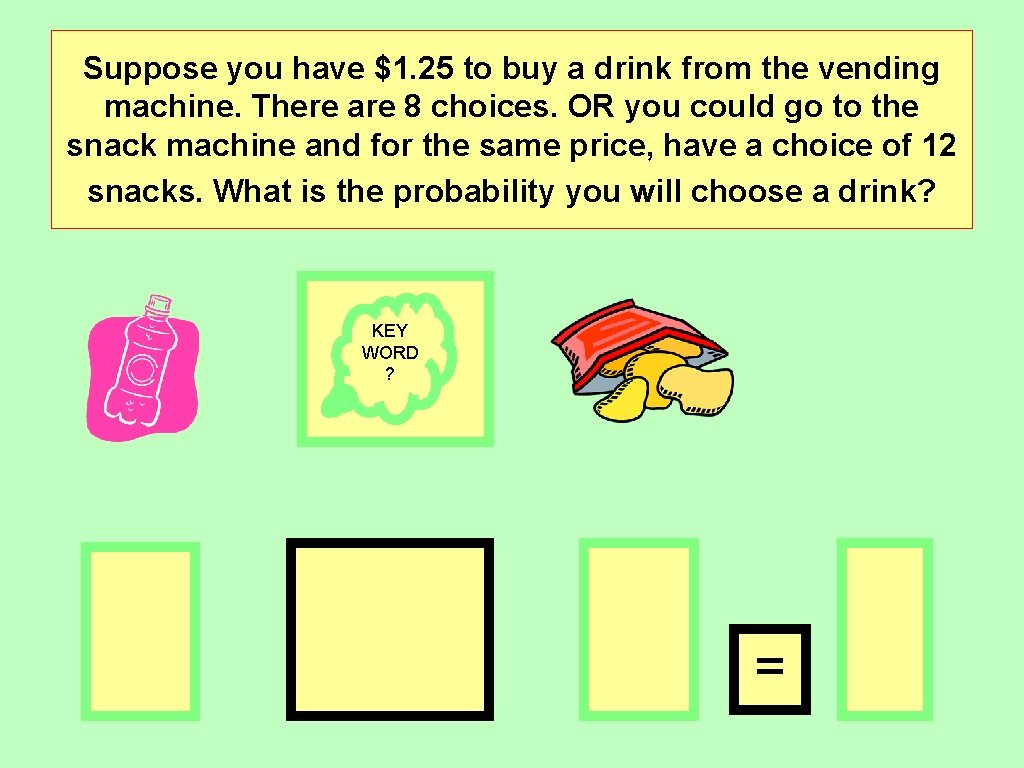 Suppose you have $1. 25 to buy a drink from the vending machine. There