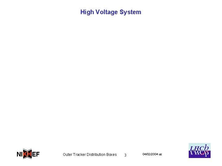 High Voltage System NIKH EF Outer Tracker Distribution Boxes 3 04/02/2004 az
