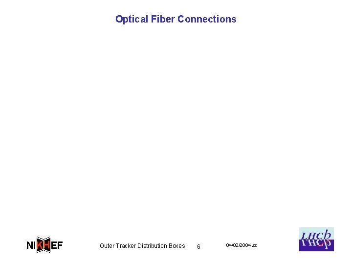 Optical Fiber Connections NIKH EF Outer Tracker Distribution Boxes 6 04/02/2004 az