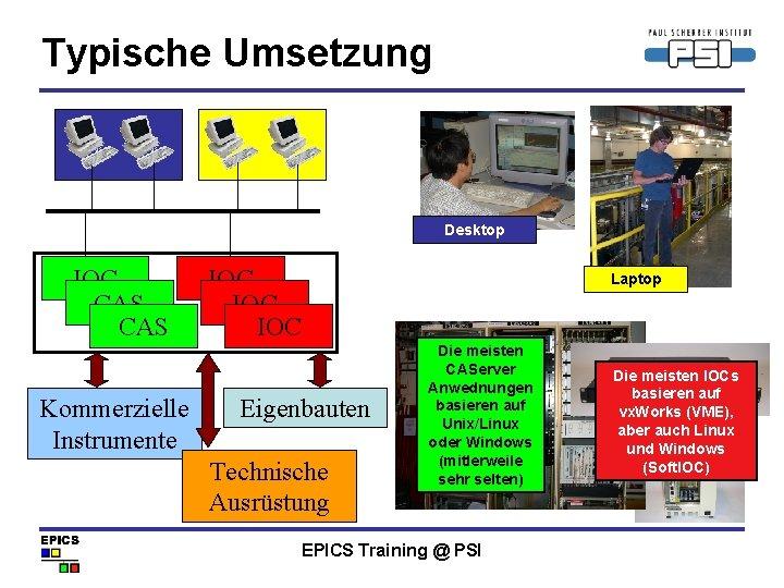 Typische Umsetzung Desktop IOC CAS Kommerzielle Instrumente IOC IOC Laptop Eigenbauten Technische Ausrüstung Die