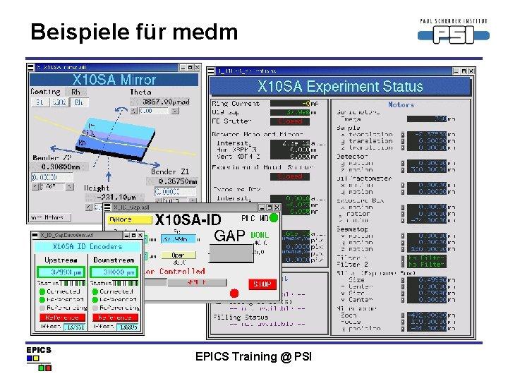 Beispiele für medm EPICS Training @ PSI